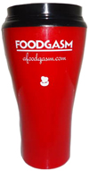 Insulated red mug